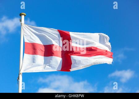 England flag, St George cross Photo taken on April 04, 2015 - Stock Photo