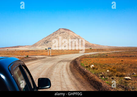 Car excursions in Cape Verde - Stock Photo