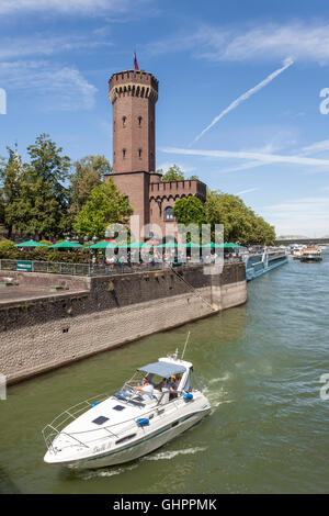 The Malakoff Tower (german Malakoffturm) at the Rhine river bank in the city of Cologne, Germany - Stock Photo