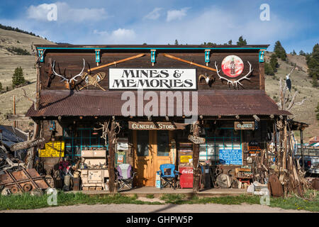 Store on Main Street in Creede, Colorado, USA - Stock Photo