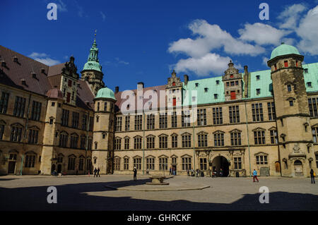 Helsingborg, Denmarkn - May 1, 2011: In courtyard of renaissance castle Kronborg to Helsingborg, Denmark - Stock Photo