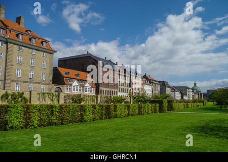 Kings Garden - park in the center of Copenhagen, near the Rosenborg Castle, Denmark. - Stock Photo