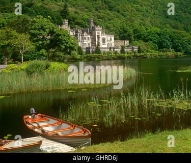 Kylemore Abbey, Connemara, County Galway, Ireland - Stock Photo