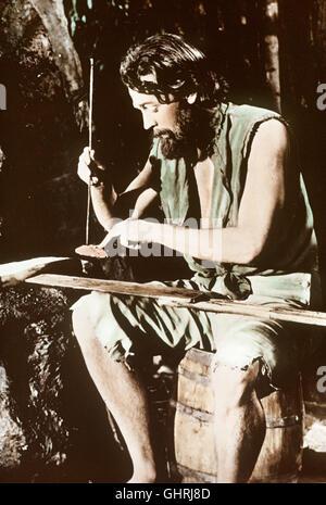 ROBINSON CRUSOE -0 Im Jahre 1659 strandet Robinson Crusoe (DAN O'HERLIHY) als einziger Überlebender einer Schiffskatastrophe - Stock Photo
