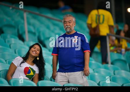 Salvador, Brazil. 10th August, 2016. OLYMPICS 2016 FOOTBALL SALVADOR - Fans arrive for the match between Japan (JPN) - Stock Photo