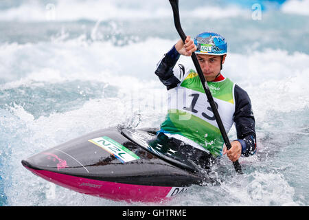 Rio de Janeiro, Brazil. August 10, 2016.  CANOE SLALOM - KAYAK (K1) MEN SEMI-FINAL at the 2016 Summer Olympic Games - Stock Photo