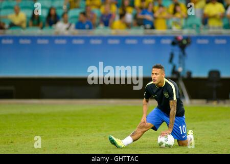 Salvador, Brazil. 10th August, 2016. OLYMPICS 2016 FOOTBALL SALVADOR - Match between Brazil (BRA) and Denmark (DIN) - Stock Photo
