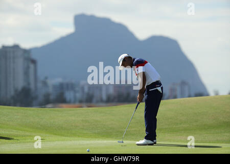 Rio de Janeiro, Brazil. 11th Aug, 2016. Yuta Ikeda (JPN) Golf : Men's Individual Stroke Play First Round at Olympic - Stock Photo