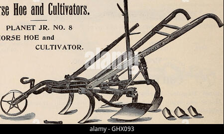 Annual catalogue of high grade garden, flower, field seeds - implements for farm, garden and lawn (1899) - Stock Photo