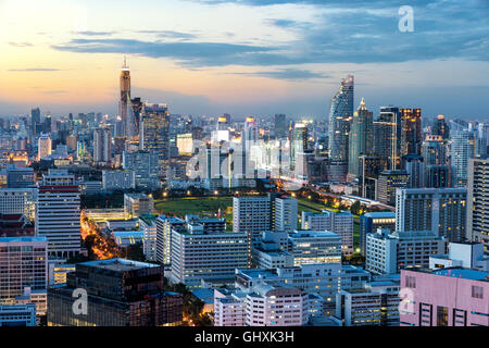 Bangkok urban skyline with skyscraper building in center business district in Bangkok,Thailand - Stock Photo