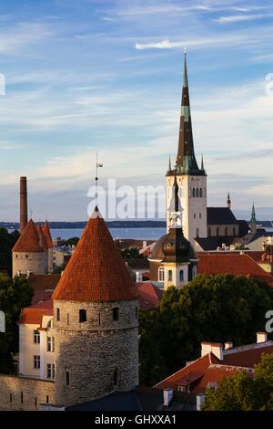 Tallinn city view, capital of Estonia, Europe - Stock Photo