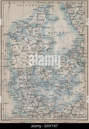 DENMARK Railways Iceland SchleswigHolstein BARTHOLOMEW 1876