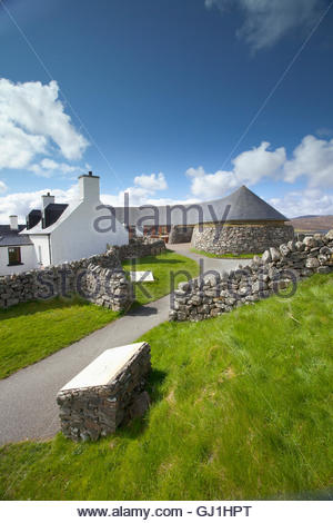 The visitor centre for the Calanais Standing Stones, Calanais, Isle of Lewis, Outer Hebrides, Outer Hebrides. Scotland - Stock Photo
