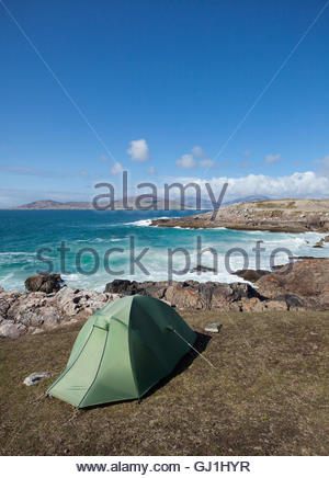 Wild camping above the coast near Horgabost, Isle of ...