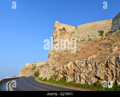 Rethymno city Greece Fortezza fortress landmark architecture - Stock Photo