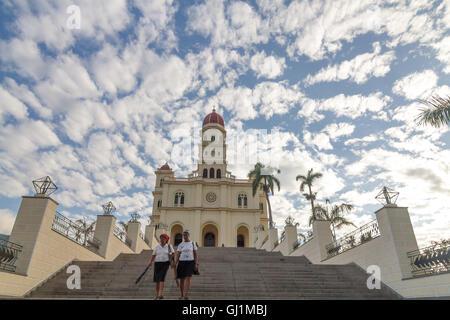 Cuba, Santiago de Cuba Province, El Cobre, Virgen de la Caridad del Cobre, on a sunny day with white clouds. 2013 - Stock Photo