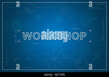 Coaching workshop business coach at seminar adult education stock business coaching online workshop on paper blueprint background business concept stock photo malvernweather Image collections