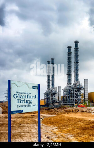 Glanford Brigg Power Station Centrica Energy British Gas Brigg England - Stock Photo