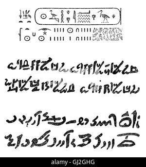 writing, script, hieroglyphs, Ancient Egypt, Old Empire (circa 2707