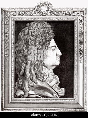 Louis XIV, 1638-1715, Louis the Great, Sun King, Ludwig XIV., King of France - Stock Photo