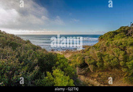 Bells Beach, Torquay, Surf Coast, Great Ocean Road, Victoria, Australia, site of the annual Rip Curl Pro surfing - Stock Photo