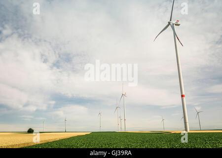 Wind farm, Pfalz, Germany - Stock Photo