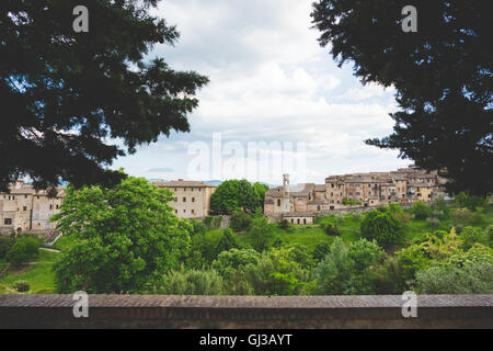 View of Colle di Val d'Elsa, Siena, Italy - Stock Photo