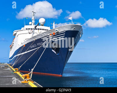 dh Marco Polo CRUISE SHIP CARIBBEAN CMV cruise liner berthed Kingstown St Vincent wharf pier - Stock Photo