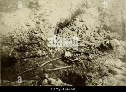 Exploration of a Munsee cemetery near Montague, New Jersey (1915) Stock Photo