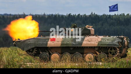 Moscow Region, Russia. 13th Aug, 2016. China's ZBD-86A infantry fighting vehicle during the final stage of the Suvorov - Stock Photo