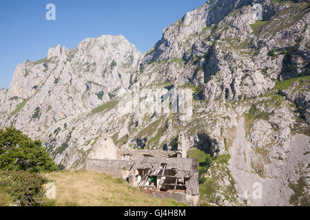 Hiking Cares Gorge in Picos de Europa,Asturias,Spain,Europe. - Stock Photo