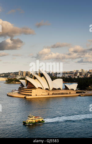 Sydney Opera House in the Harbour of Sydney. - Stock Photo