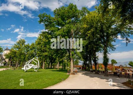 Rodez. Aveyron. Garden foirail and museum Pierre Soulages. France