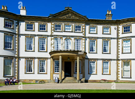 The facade of Sewerby Hall, near Bridlington, East Yorkshire, England UK - Stock Photo
