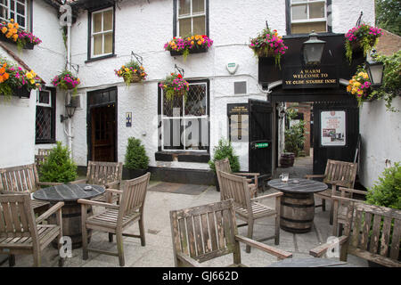 Ye Olde Starre Inne, Stonegate Street, York, England, UK - Stock Photo