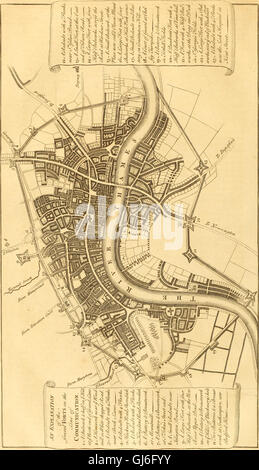 The history and survey of London - from its foundation to the present time (1756) - Stock Photo