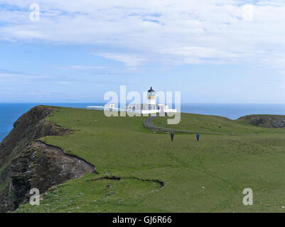 dh North Lighthouse FAIR ISLE SHETLAND North coast sea cliffs ...