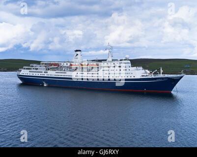 dh Marco Polo CRUISE SHIP UK CMV cruise ship Marco Polo lerwick shetland liner - Stock Photo