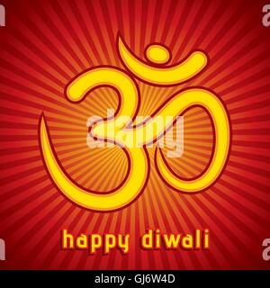 creative diwali festival greeting card background vector - Stock Photo