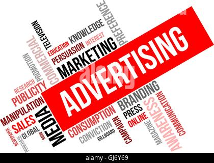 word cloud - advertising - Stock Photo
