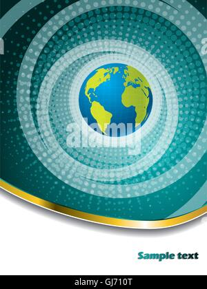 Halftone globe brochure design - Stock Photo