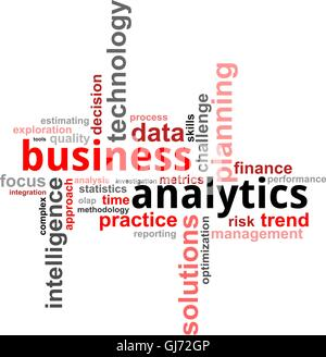 word cloud - business analytics - Stock Photo