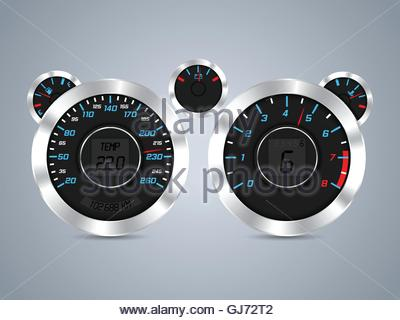 Cool new dashboard design - Stock Photo