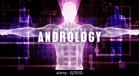 Andrology as a Digital Technology Medical Concept Art - Stock Photo