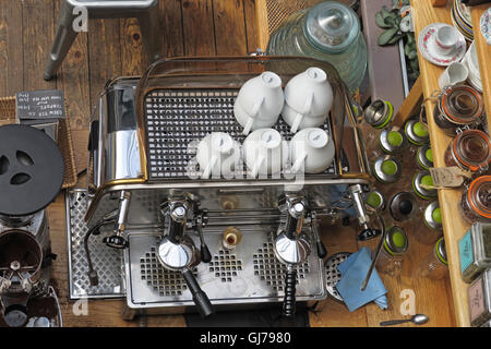 Coffee Machine, Manchester Craft and Design Centre Cafe, 17 Oak St, Manchester, UK M4 5JD - Stock Photo