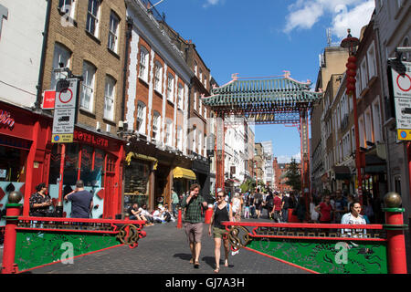 London Chinatown in Soho Central London - Stock Photo