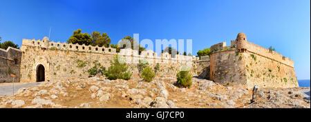 Rethymno city Greece Fortezza fortress landmark architecture - Stock Photo