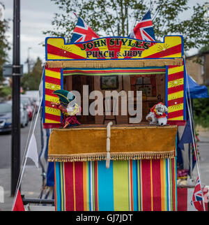 ... Mr Punch sausages and the spotted dog in a Punch and Judy glove puppet booth perform  sc 1 st  Alamy & Spotted dog with sausages and Mr Punch at a Punch and Judy booth ...