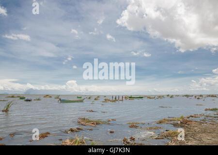 People on Lake Turkana in Kenya - Africa - Stock Photo