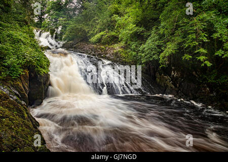 Swallow Falls in the Snowdonia National Park, near Betws y Coed, Conwy,Wales, UK. - Stock Photo